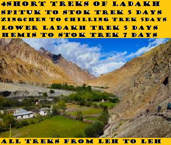 4 SHORT TREKS OF LADAKH
